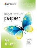 Бумага PrintPro глянц. 180г/м, A4 PG180-20