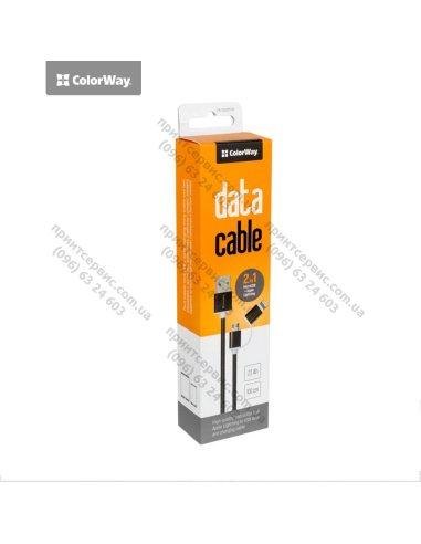 Кабель Colorway 2в1 (Lihgtning+МicroUSB) черний