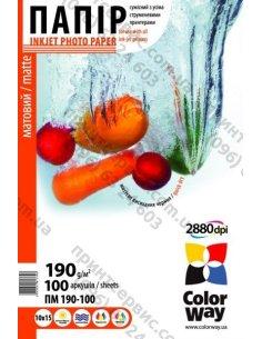 Бумага CW матовая 190г/м, 10x15 ПМ190-100