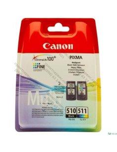 Набор картриджей Canon PG-510+CL-511 MULTIPACK (2970B010) 2х9 мл, 2 картриджа